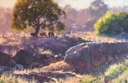 Creekline, Stuart Town 76 x 76cm