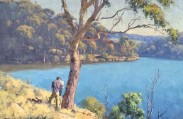 Laurie on Lyell, Lake Lyell 45x60cm