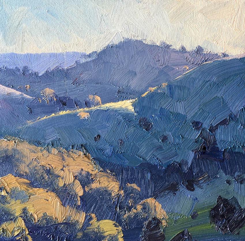 Last Light, Tinkers Hill 30cm x 30cm