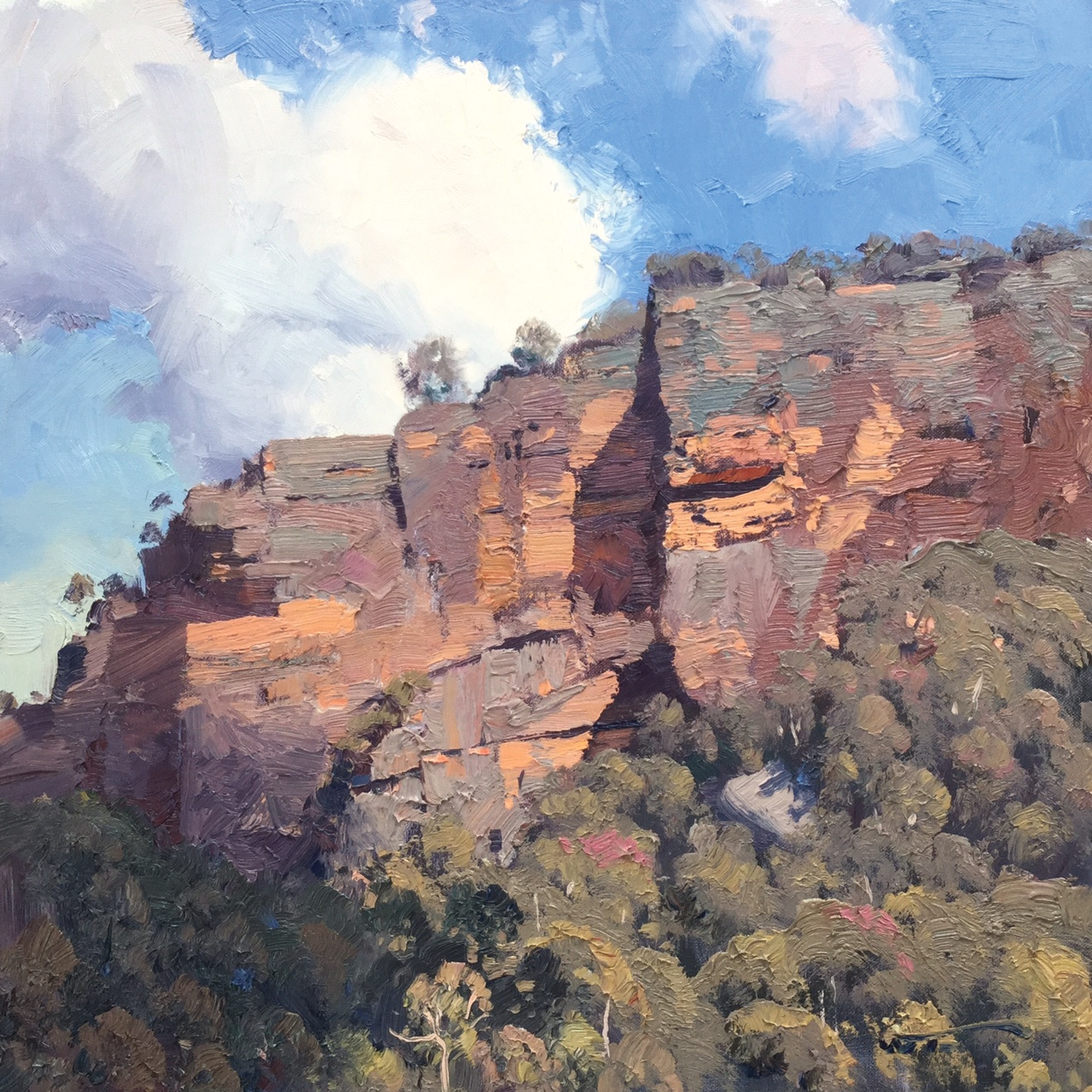 Towers of Stone, Capertee Valley 45 x 45cm