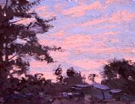 Camp Under Dawn Sky
