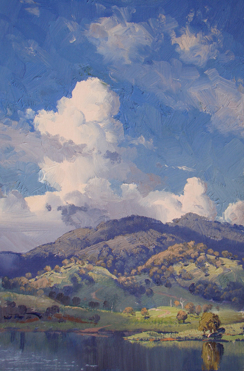 Afternoon Cloud Building, Chaffey Dam 45x30cm