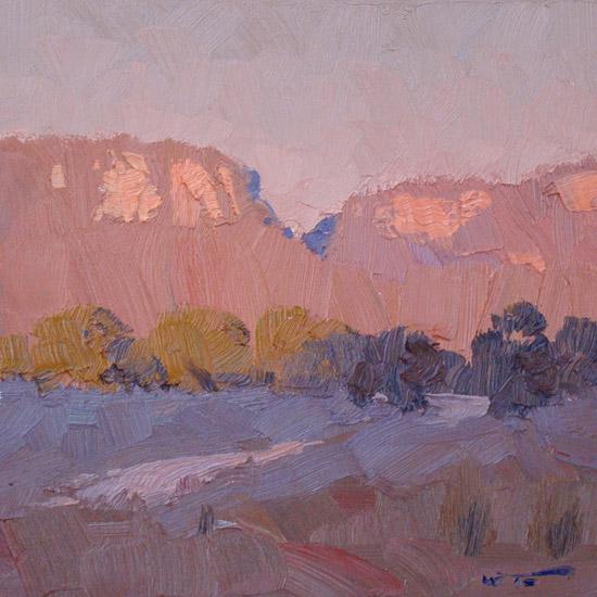 "Sunset Sketch 12x12"""