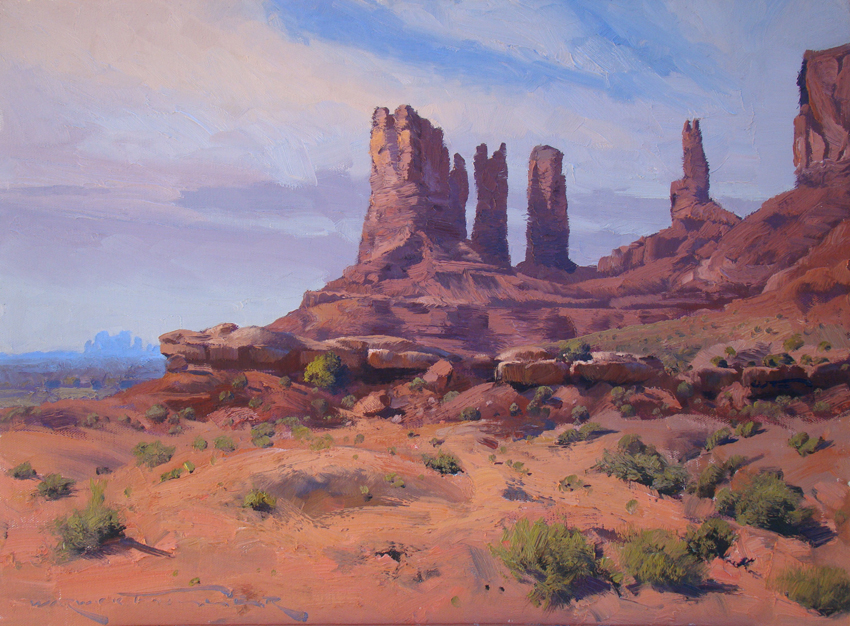 Buttes of Monument Valley 45 x 60cm