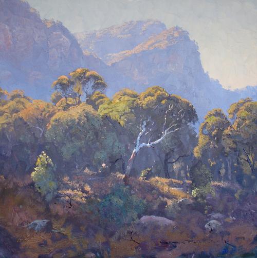 Morning Light in the Valley, Glen Davis 60x60cm