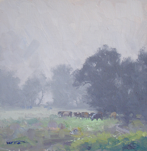 Morning Veil, Glen Davis. 30x30cm