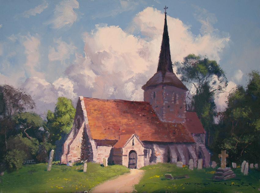 St Michael's Church, Playden 45 x 60cm