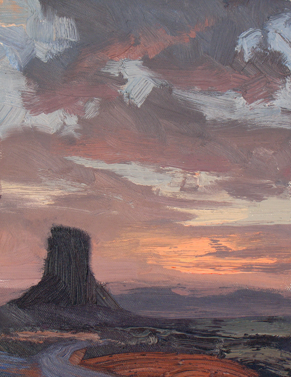 Sunset Sketch, Monument Valley 30 x 23cm