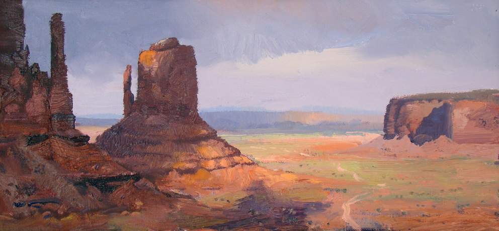 The Mittens, Monument Valley 21 x 45cm