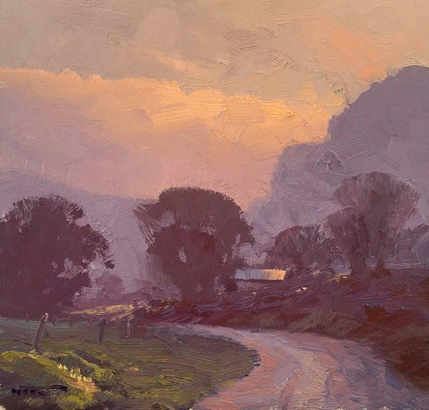 Smokey Sunrise 30x30cm