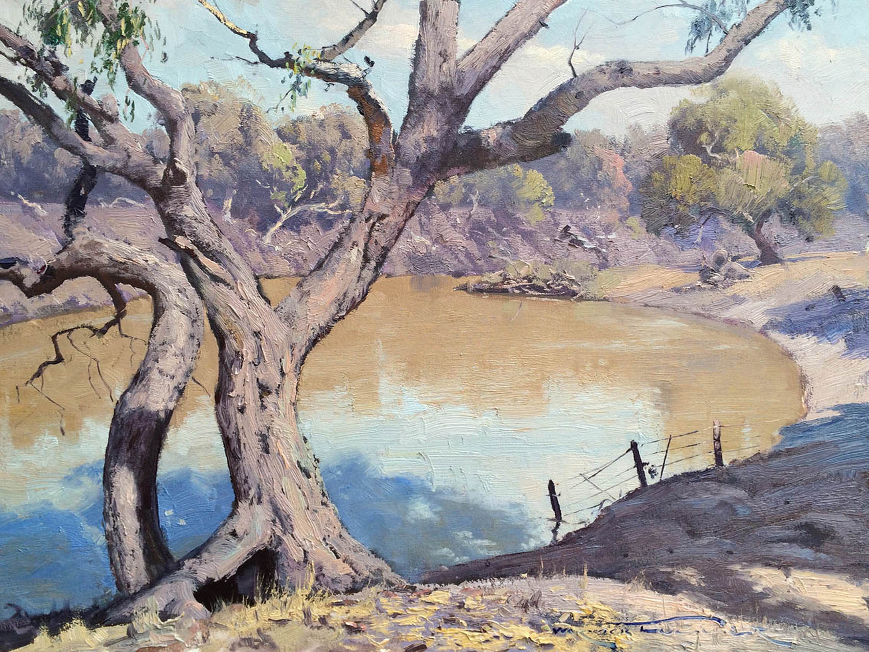 Coolabah Shade, Bourke 45x60cm