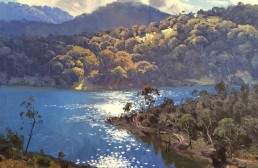 Morning Light on Lake Lyall 45x60cm