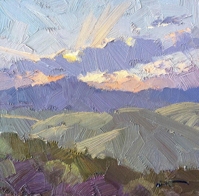 Sunset Sketch, Kanimbla 30cm x 30cm