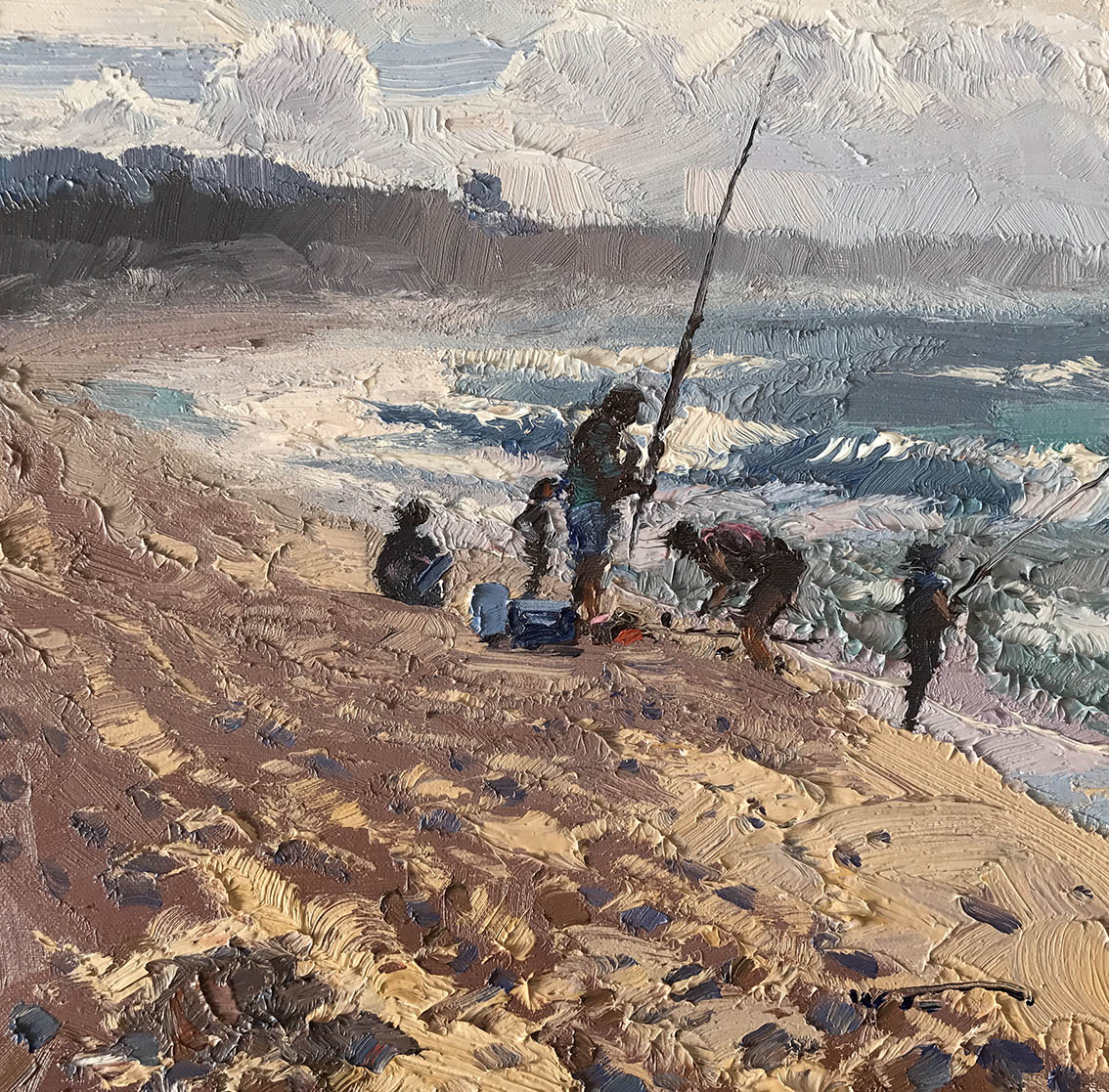 On Stockton Beach 30cm x 30cm