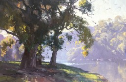 Sketch for Serene Flow, Georges River 45cm x 60cm